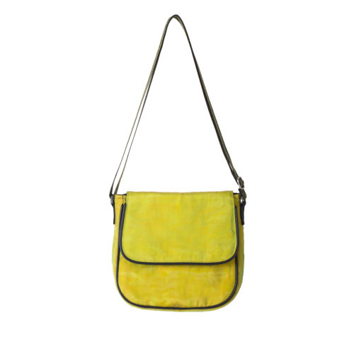 Square – Ethical Crossbody bag - Yellow