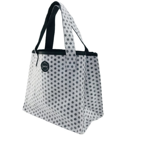 Shopper – All-purpose ethical bag - Black dots - side