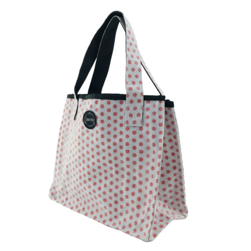 Shopper – All-purpose ethical bag - Red dots - side