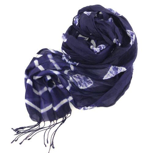 Navy Blue Scarf - Soft Organza Silk