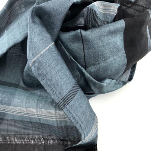 Essential Blue Sky  And Silver Scarf - Detail