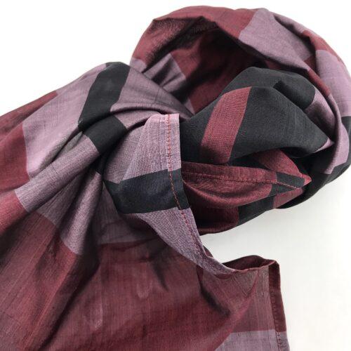 Burgundy Scarf – Black-Purple – Essential
