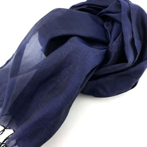 Essential Silk Scarf - Blue - Detail