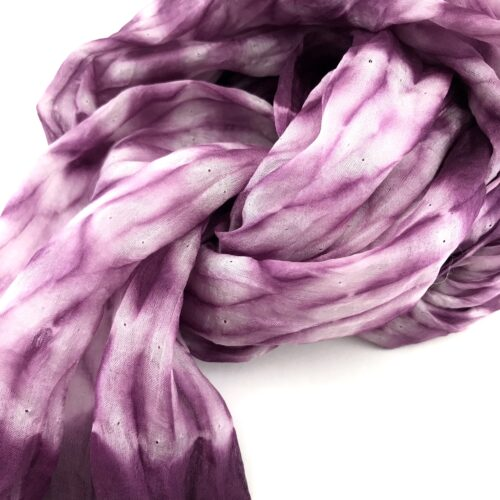 Organza Scarf – Faded Effect In The Center - Purple - Detail