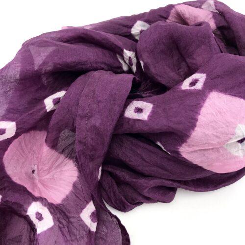 Soft Organza – Silk Scarf – Pink Diamonds