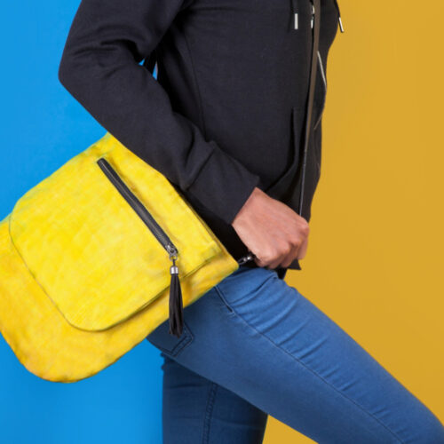 Away – Ethical Crossbody Bag – Yellow - Smateria