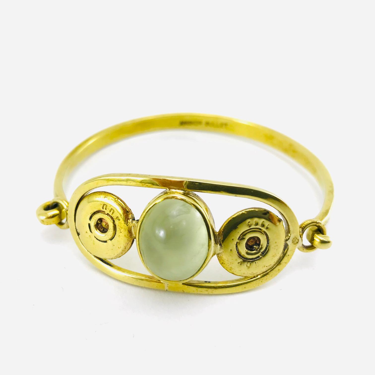 Bracelet Jonc - Douille De Balle Recyclée - Topaze