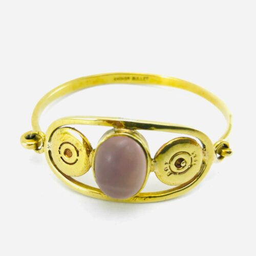 Bangle - Recycled Bullet Shell Casing - Amethyst